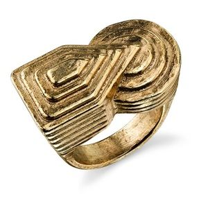 Erin Wasson x Low Luv Art Deco ring